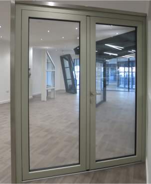 Versatile aluminium entrance door from Alumen