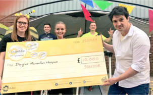 Solidor raises support for Macmillan hospice