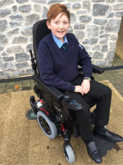 Alfie's wheels now racing ahead thanks to frameXpress team & friends