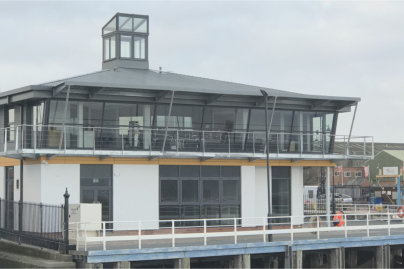 Crown Doors and Shutters chooses Exlabesa for iconic River Tees project